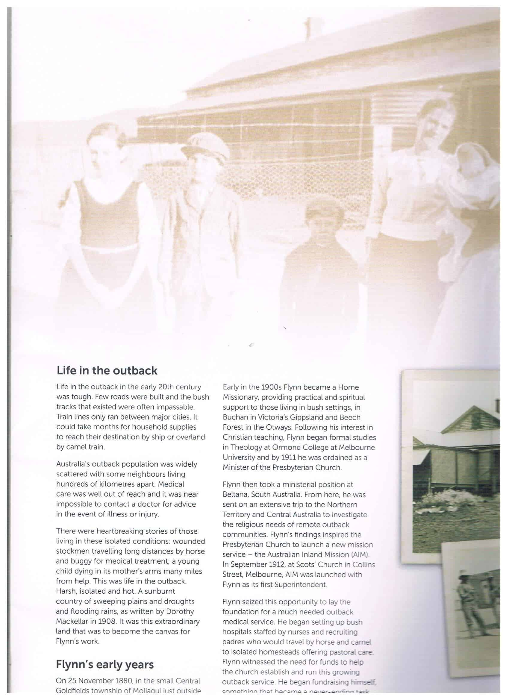 Royal Flying Doctor Service Our Victorian Story page 1 Life in the Outback