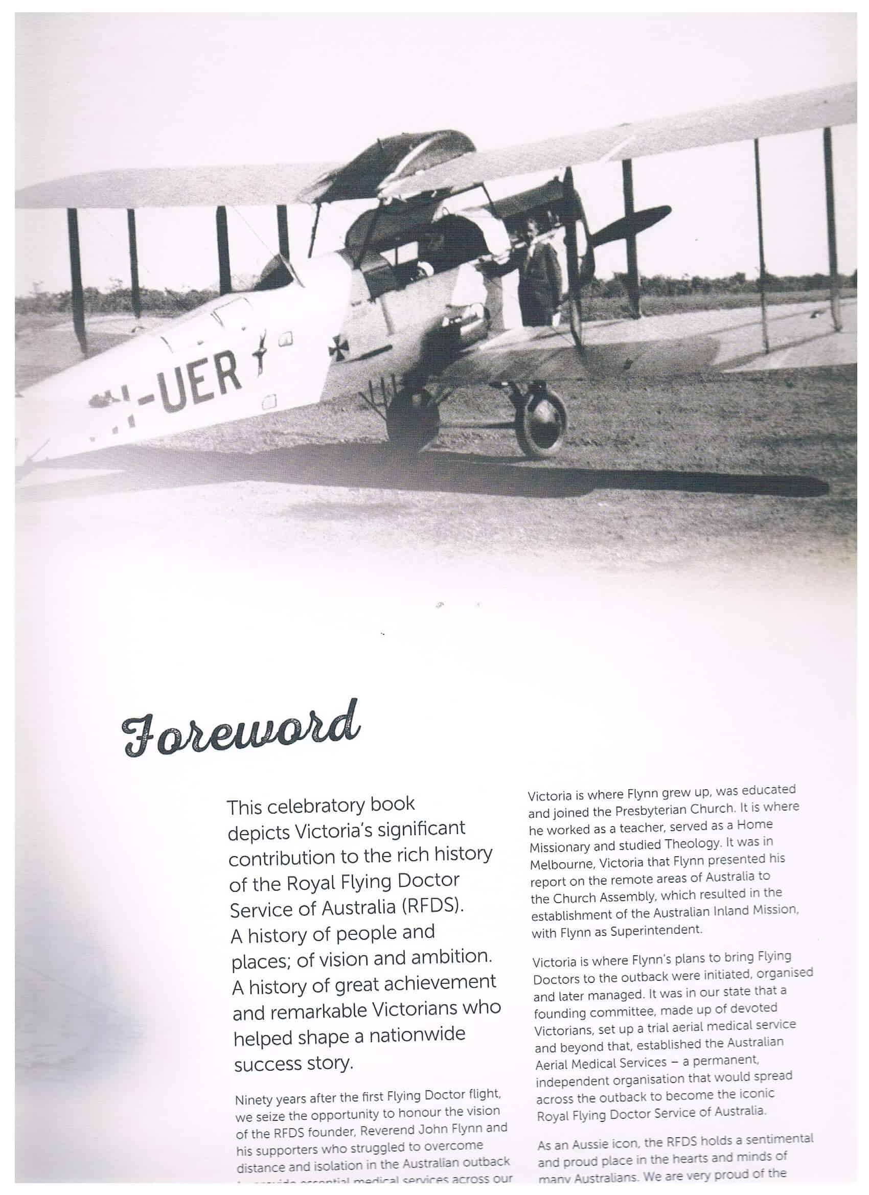 Royal Flying Doctor Service Our Victorian Story Foreword