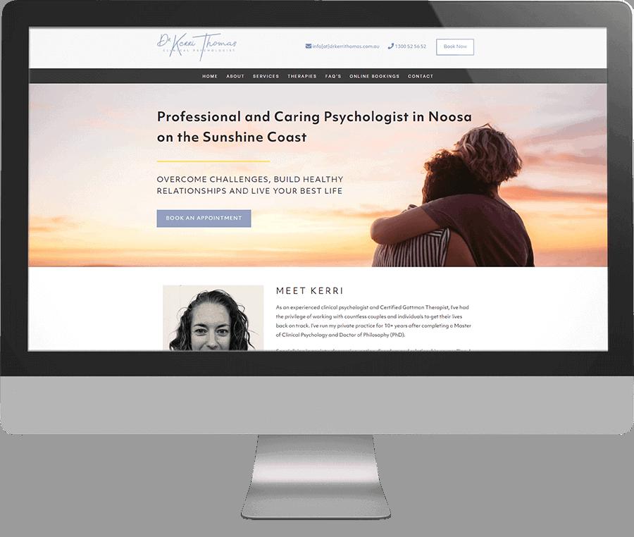 Dr Kerri Thomas Clinical Psychologist SEO-friendly Website