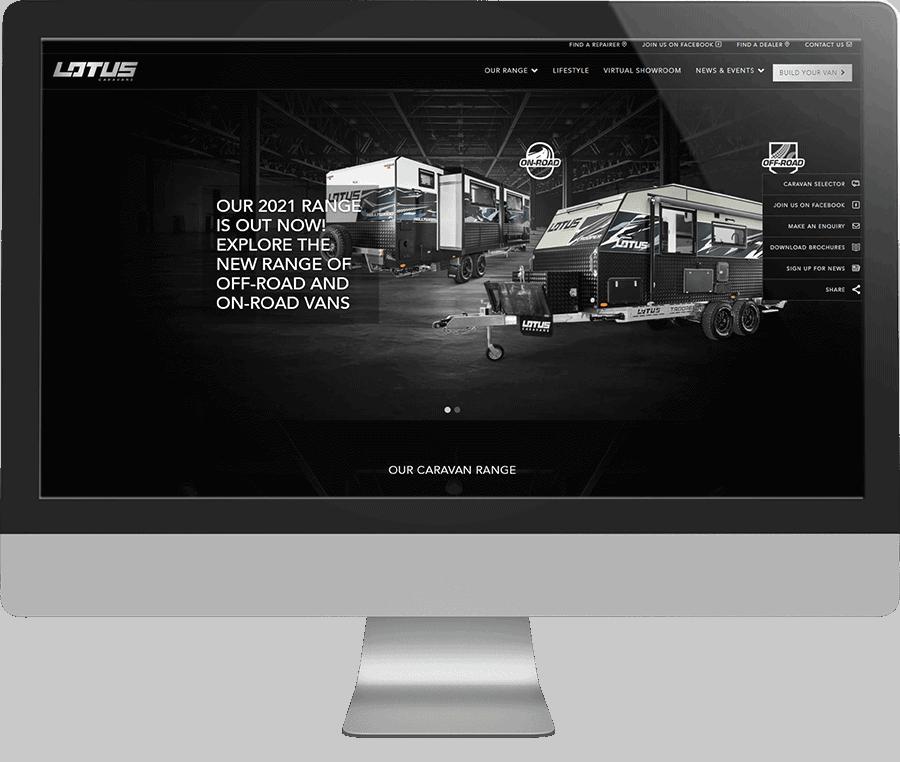 Lotus Caravans SEO-friendly Website