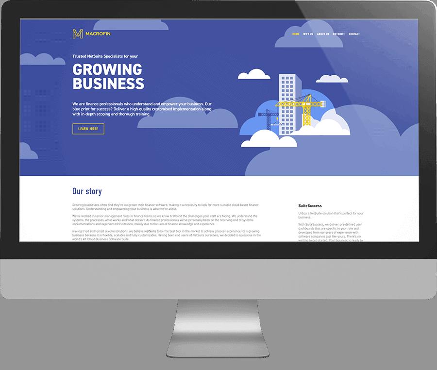 MacroFin SEO-friendly Website