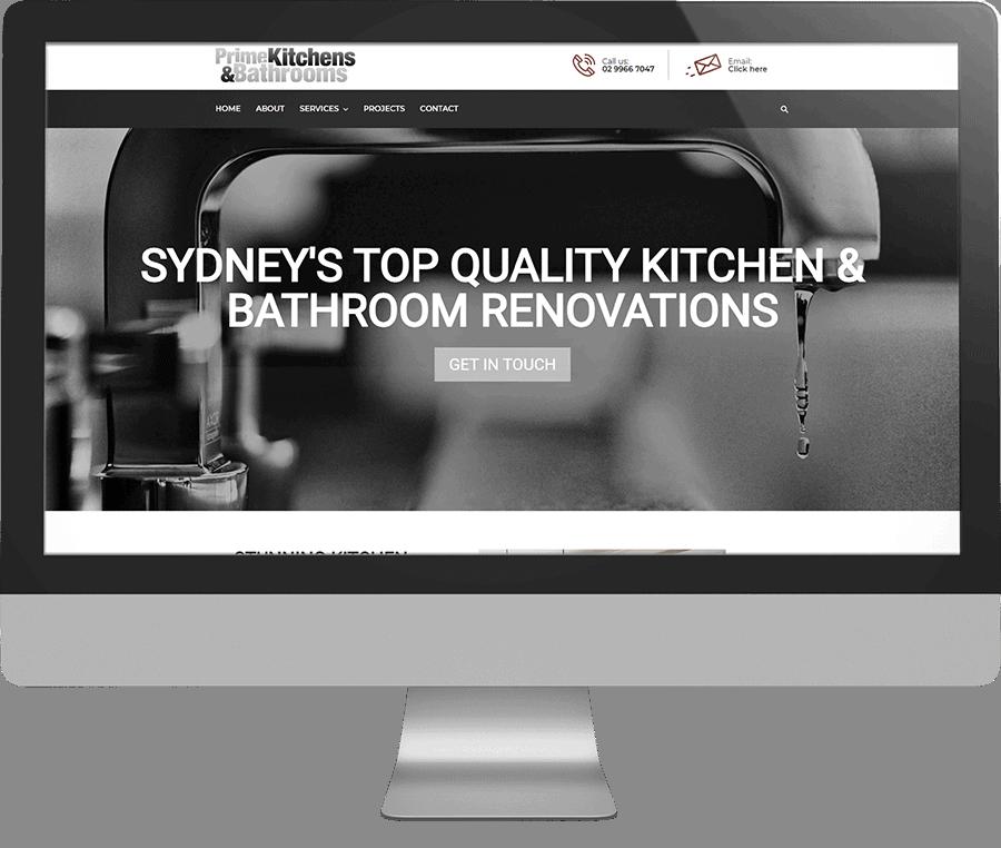 Prime Kitchens & Bathrooms SEO-friendly Website
