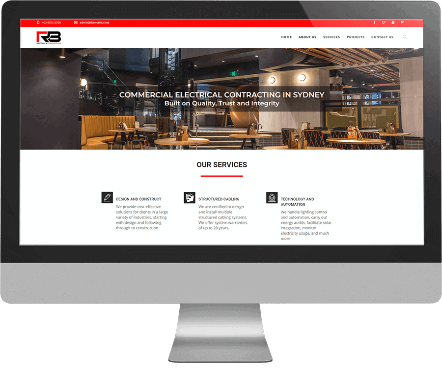 RB Electrical SEO-friendly website
