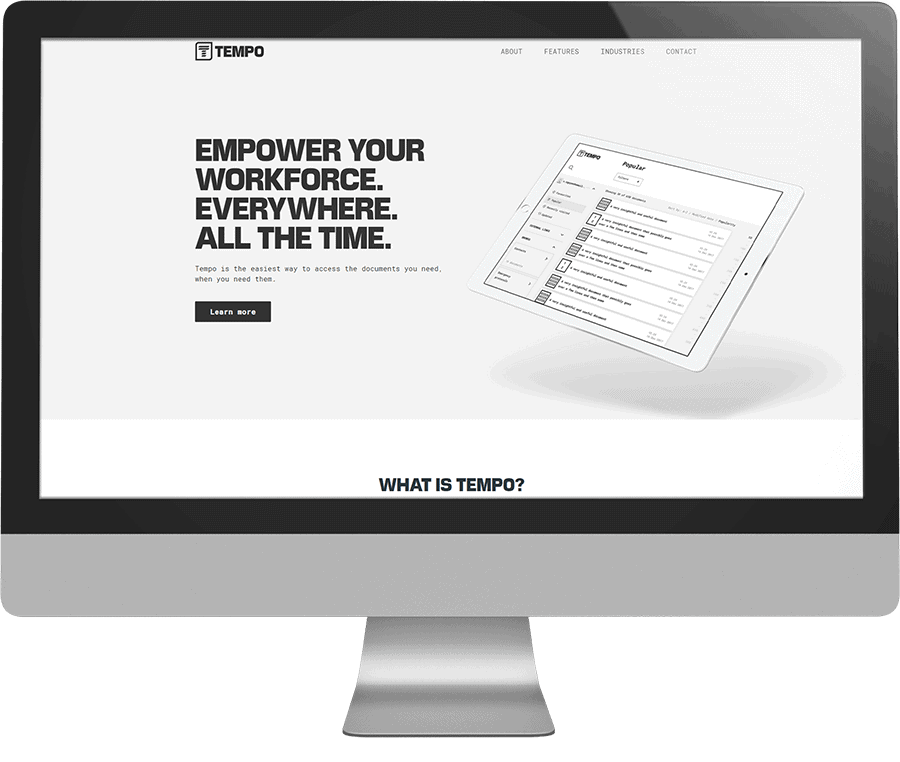 Tempo SEO-friendly website
